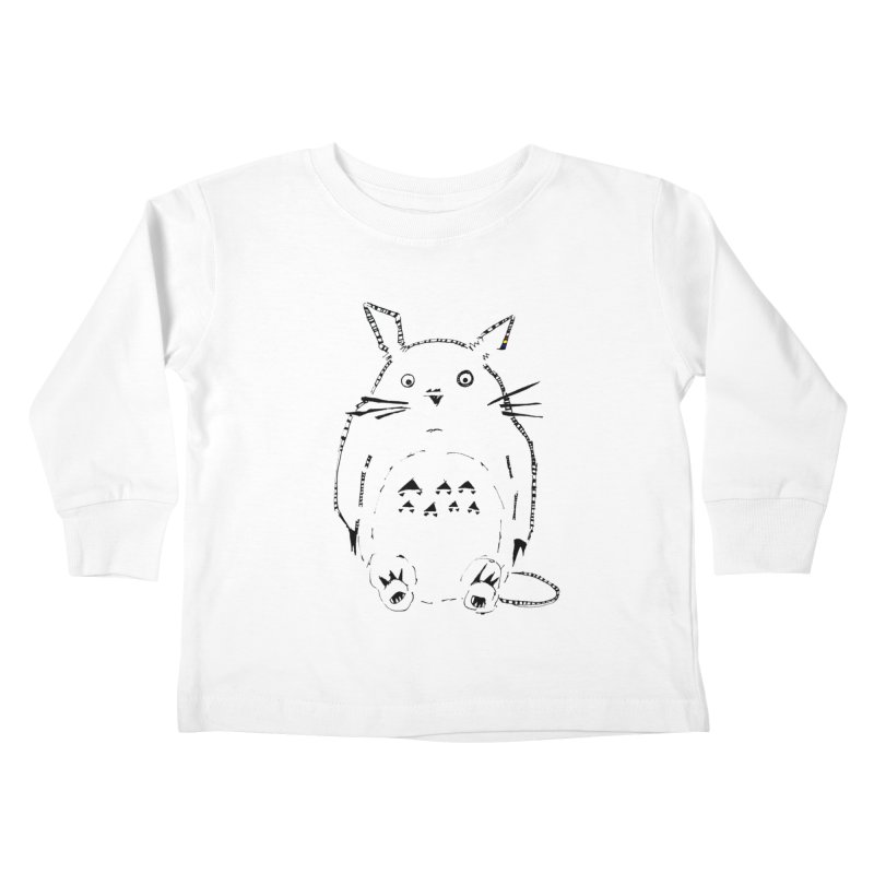 Tribal Totoro Kids Toddler Longsleeve T-Shirt by PASTEL HONG ART