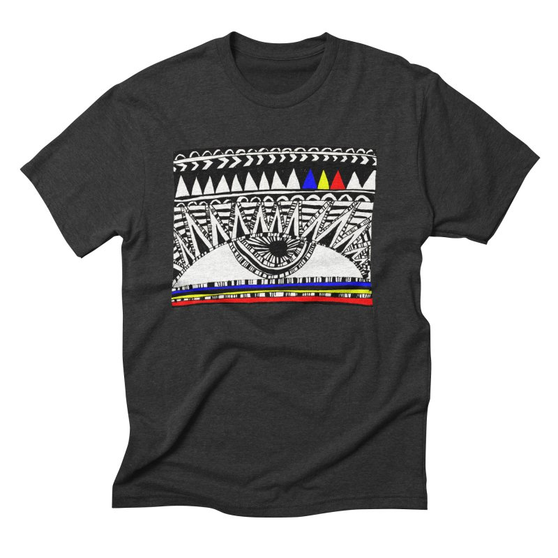 Eye of Ra Men's Triblend T-shirt by PASTEL HONG ART