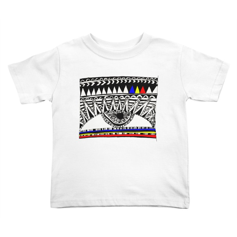 Eye of Ra Kids Toddler T-Shirt by PASTEL HONG ART
