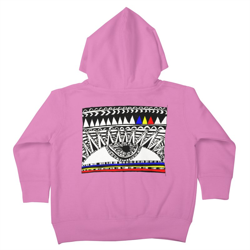 Eye of Ra Kids Toddler Zip-Up Hoody by PASTEL HONG ART