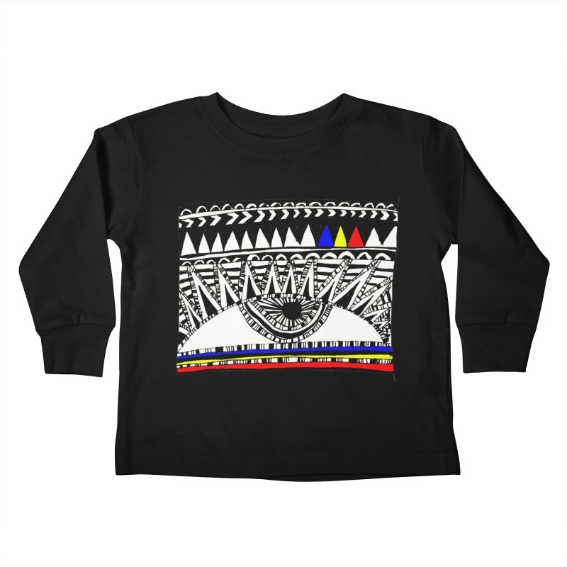 Eye of Ra Kids Toddler Longsleeve T-Shirt by PASTEL HONG ART