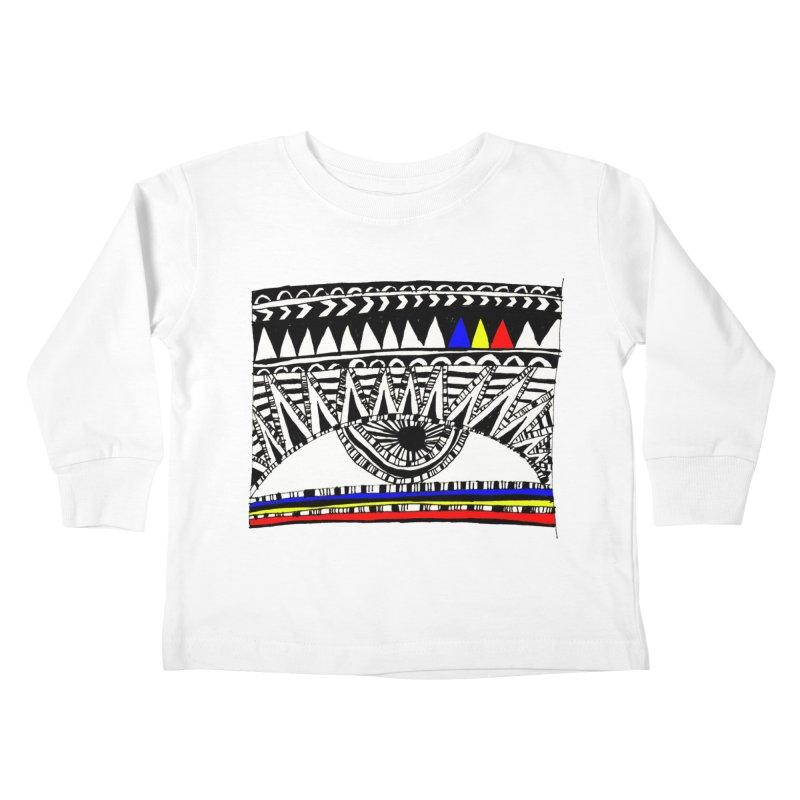 Eye of Ra Kids Toddler Longsleeve T-Shirt by PASTEL HONG ART