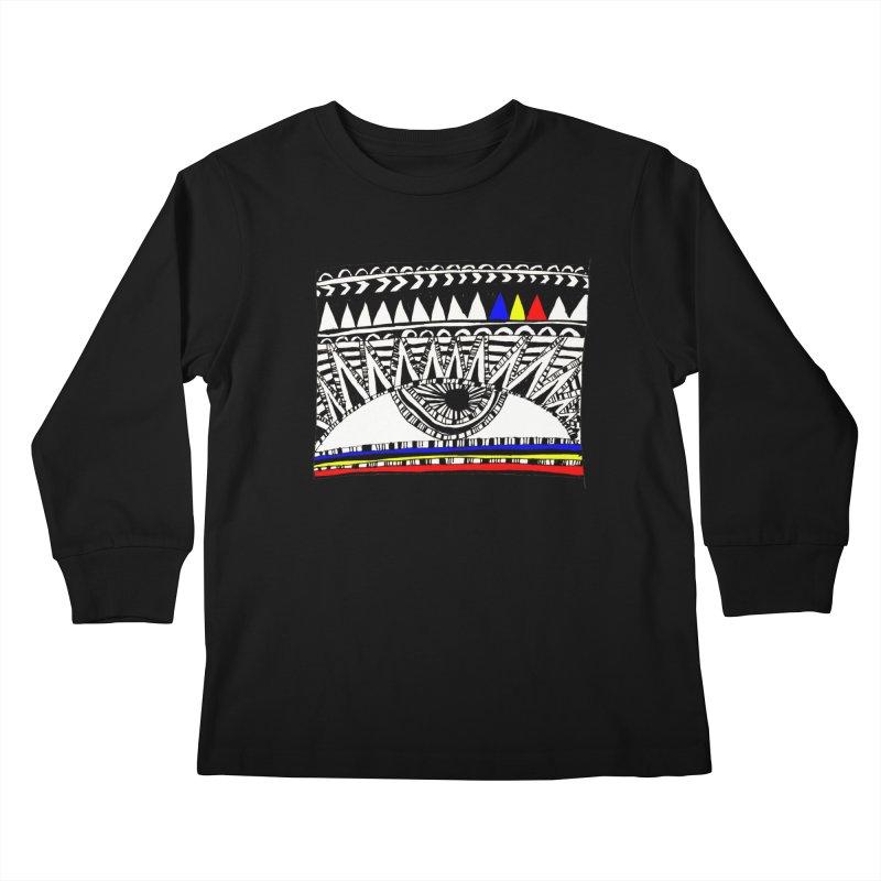 Eye of Ra Kids Longsleeve T-Shirt by PASTEL HONG ART