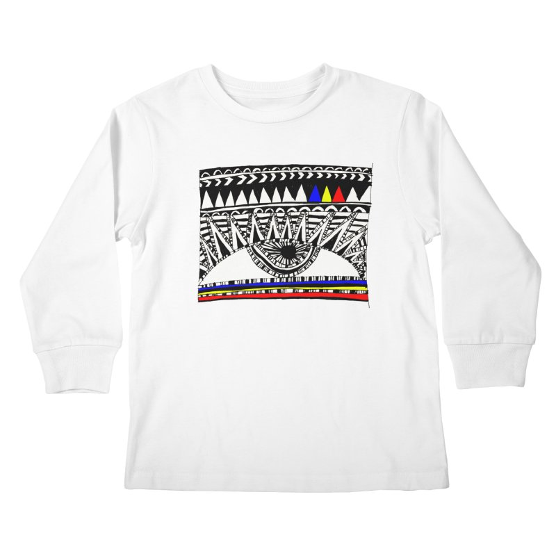 Eye of Ra Kids Longsleeve T-Shirt by PASTEL HONG ART