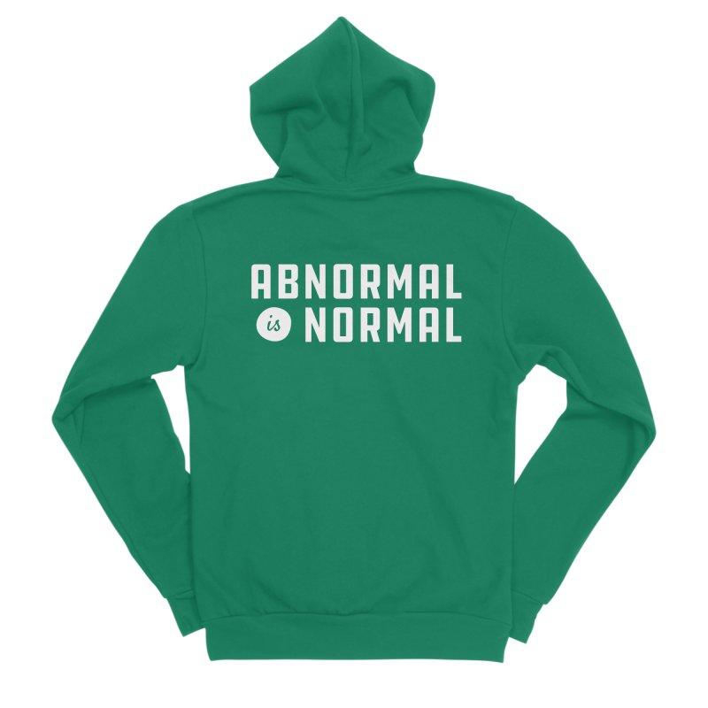 Abnormal is Normal Men's Sponge Fleece Zip-Up Hoody by A Wonderful Shop of Wonderful Wonders