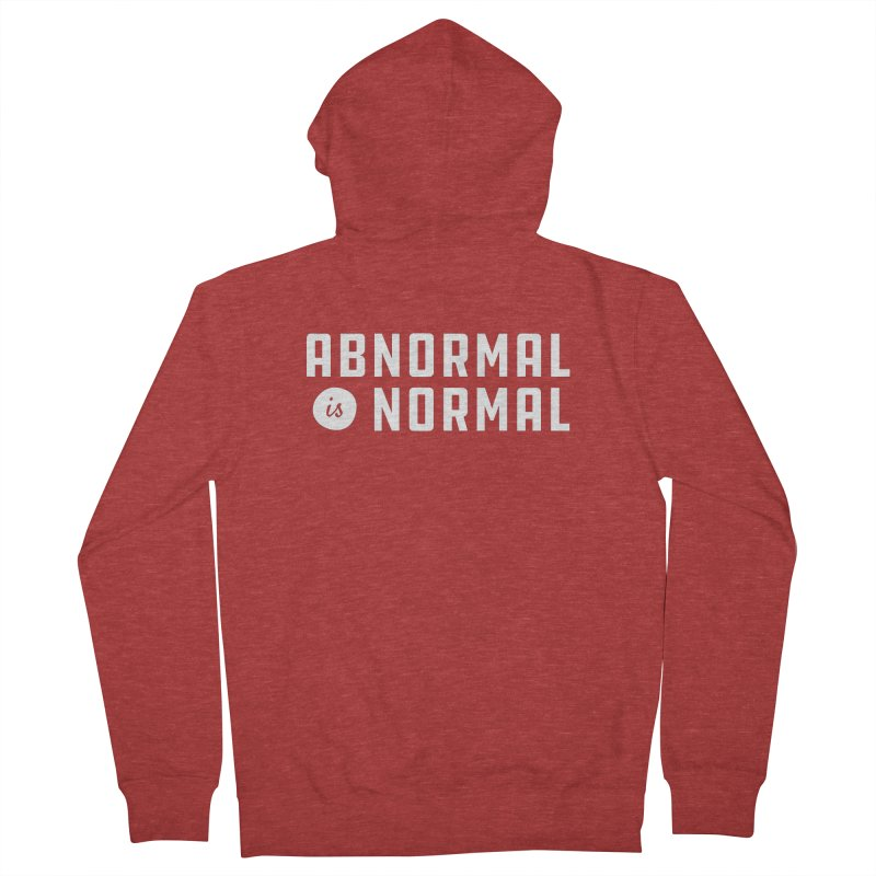 Abnormal is Normal Men's French Terry Zip-Up Hoody by A Wonderful Shop of Wonderful Wonders