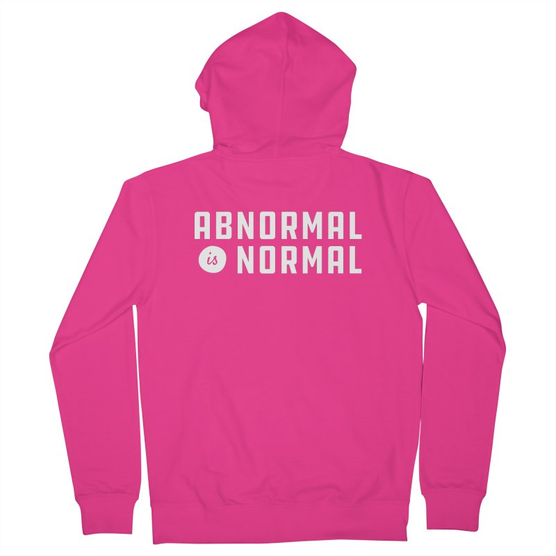Abnormal is Normal Men's French Terry Zip-Up Hoody by A Wonderful Shop of Wonderful Wonders