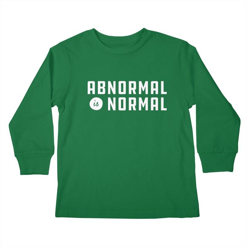 Abnormal is Normal Kids Longsleeve T-Shirt by A Wonderful Shop of Wonderful Wonders
