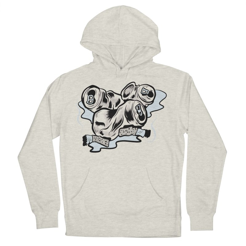 Roadside Trash: Butts and Cans Men's Pullover Hoody by Pat Higgins Illustration
