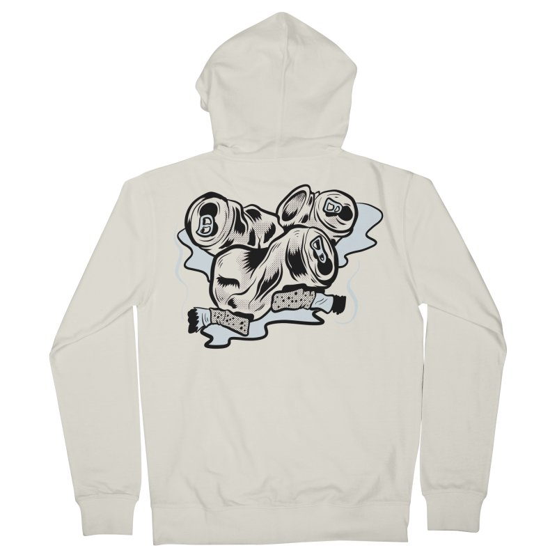 Roadside Trash: Butts and Cans Men's Zip-Up Hoody by Pat Higgins Illustration