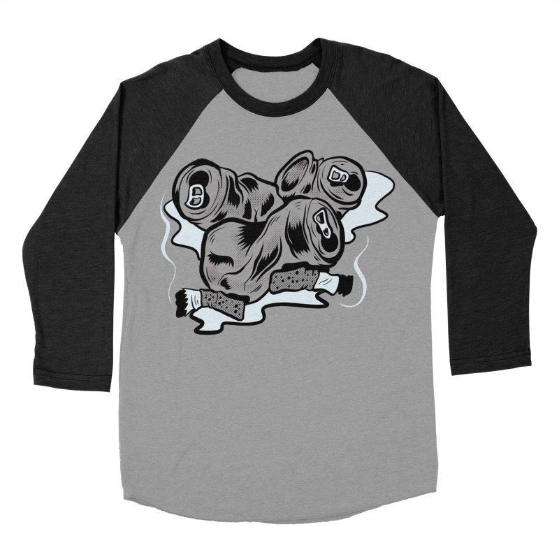 Roadside Trash: Butts and Cans Men's Baseball Triblend T-Shirt by Pat Higgins Illustration