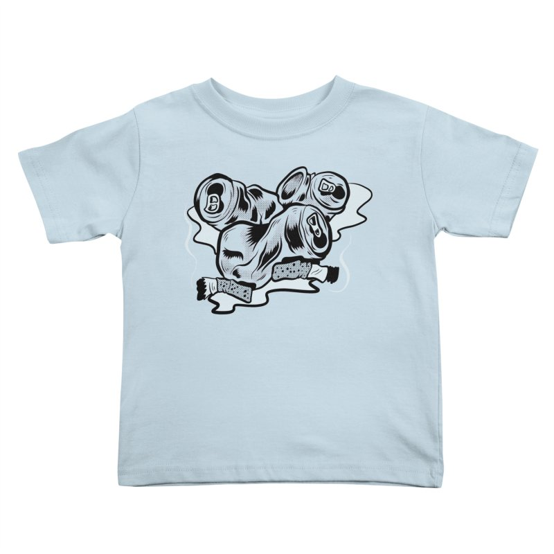 Roadside Trash: Butts and Cans Kids Toddler T-Shirt by Pat Higgins Illustration