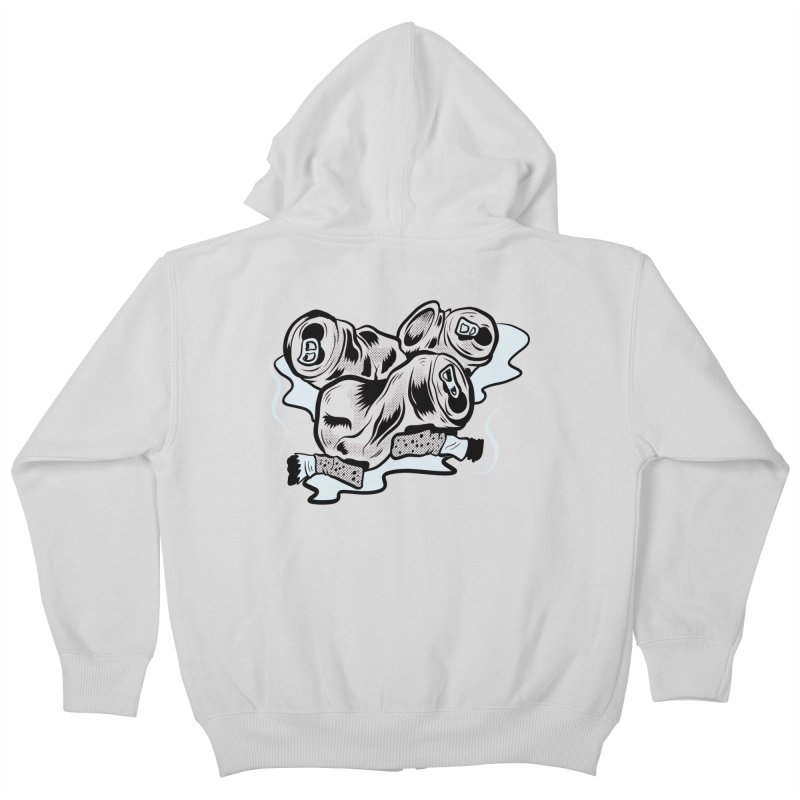 Roadside Trash: Butts and Cans Kids Zip-Up Hoody by Pat Higgins Illustration