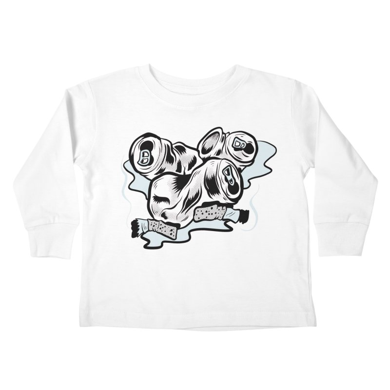Roadside Trash: Butts and Cans Kids Toddler Longsleeve T-Shirt by Pat Higgins Illustration