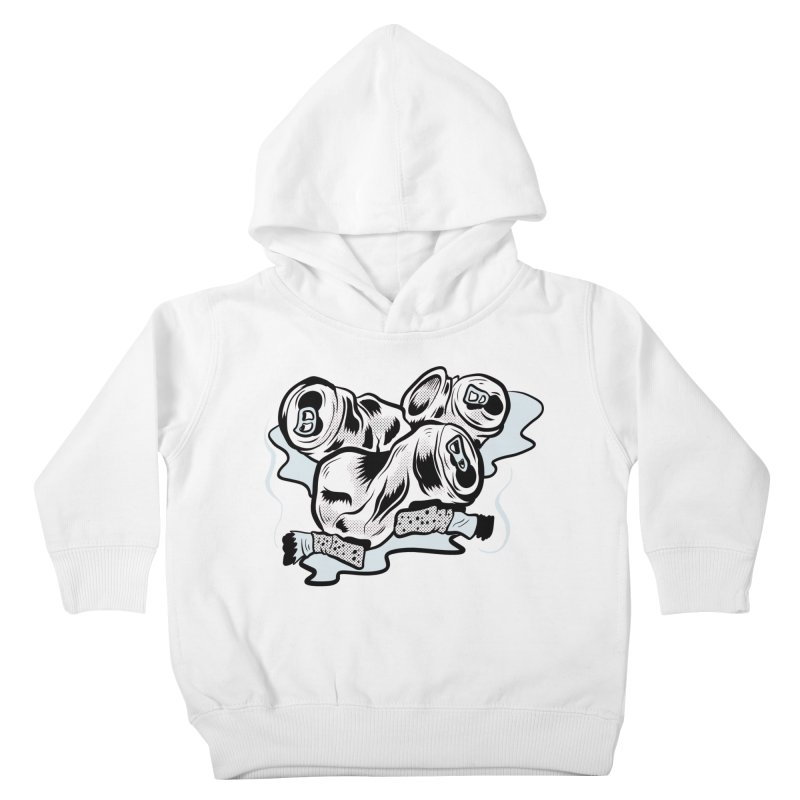 Roadside Trash: Butts and Cans Kids Toddler Pullover Hoody by Pat Higgins Illustration