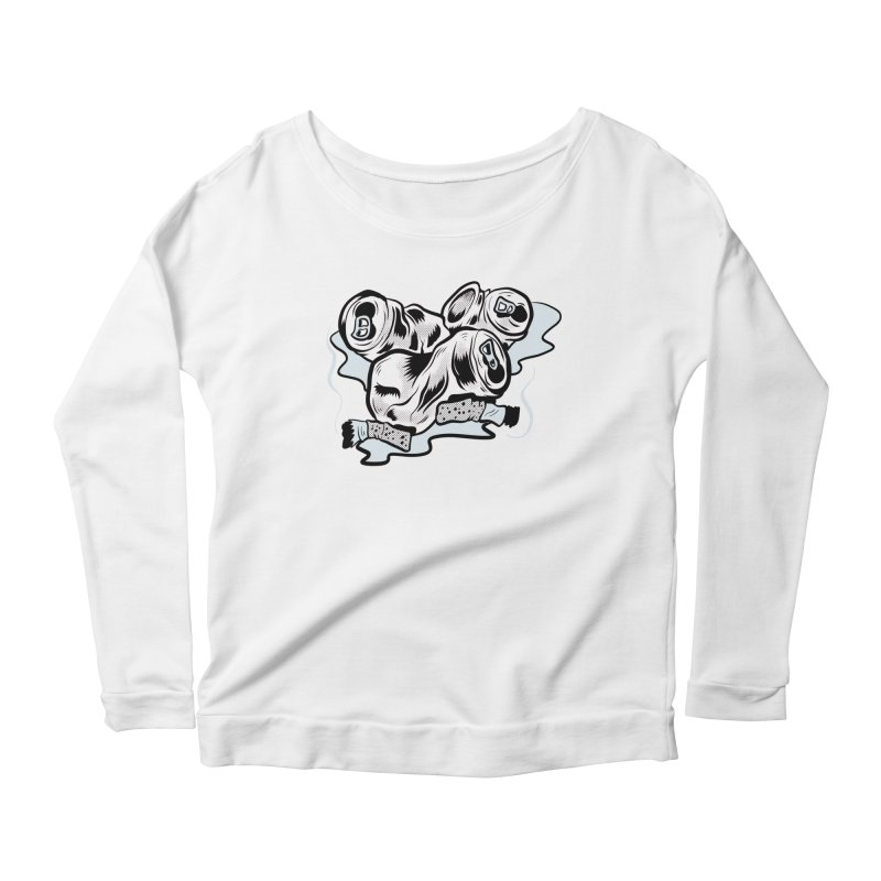 Roadside Trash: Butts and Cans Women's Longsleeve Scoopneck  by Pat Higgins Illustration
