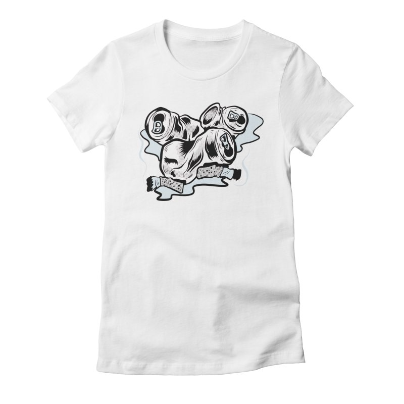 Roadside Trash: Butts and Cans Women's Fitted T-Shirt by Pat Higgins Illustration