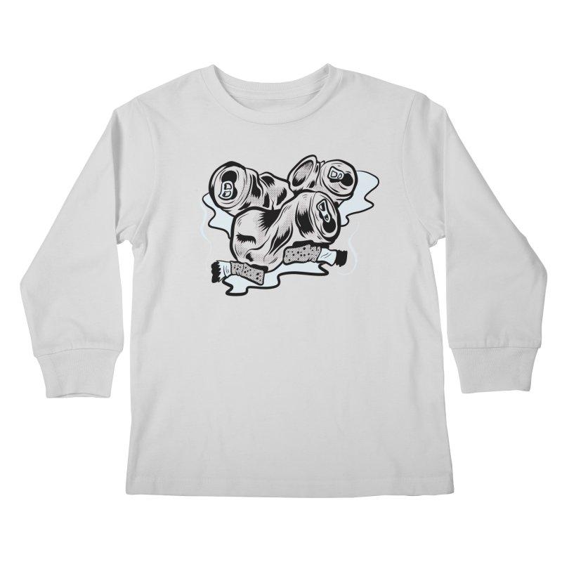Roadside Trash: Butts and Cans Kids Longsleeve T-Shirt by Pat Higgins Illustration