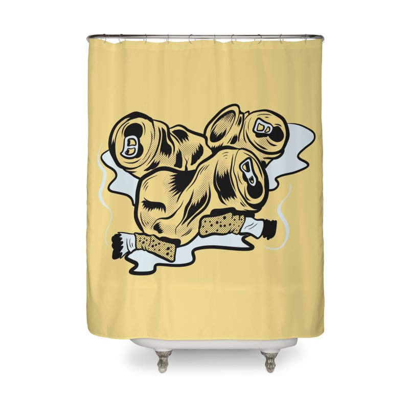 Roadside Trash: Butts and Cans Home Shower Curtain by Pat Higgins Illustration