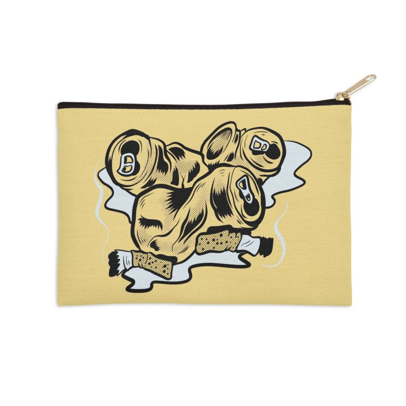 Roadside Trash: Butts and Cans Accessories Zip Pouch by Pat Higgins Illustration