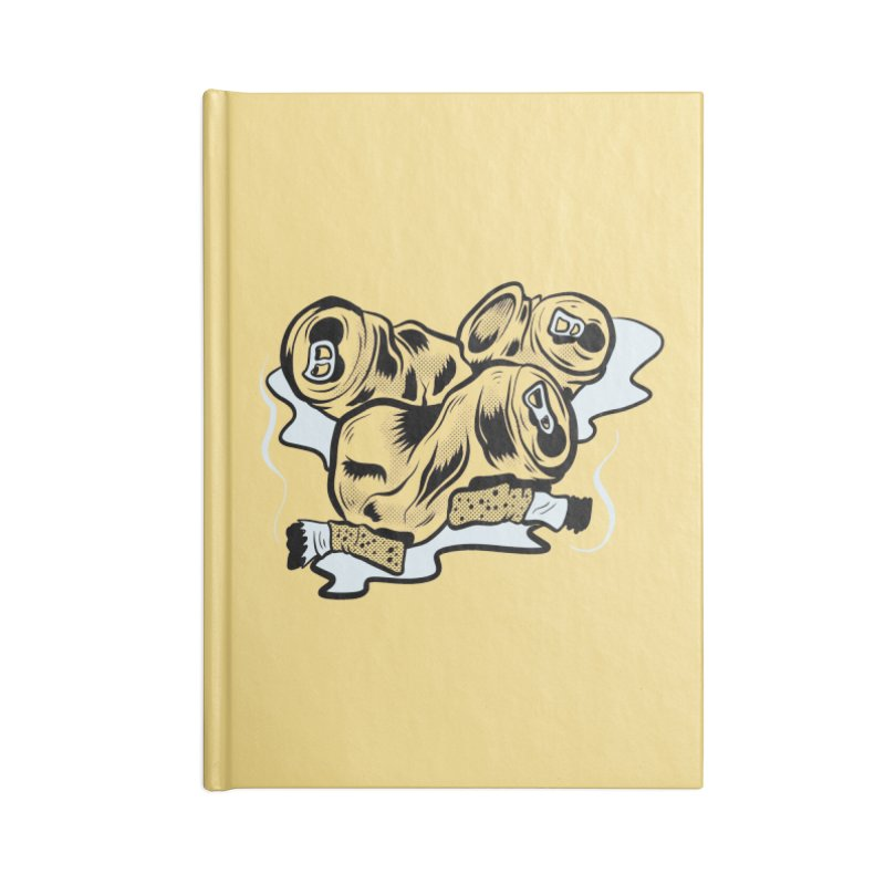 Roadside Trash: Butts and Cans Accessories Notebook by Pat Higgins Illustration