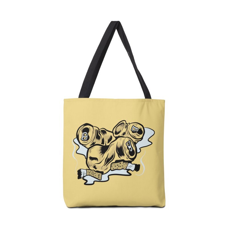 Roadside Trash: Butts and Cans Accessories Bag by Pat Higgins Illustration