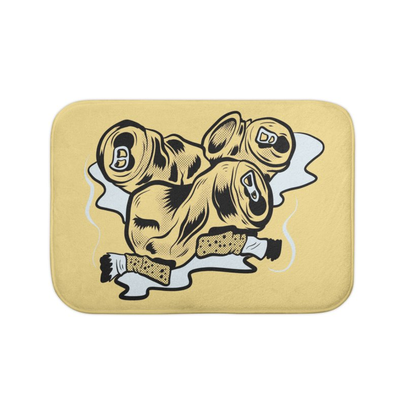 Roadside Trash: Butts and Cans Home Bath Mat by Pat Higgins Illustration