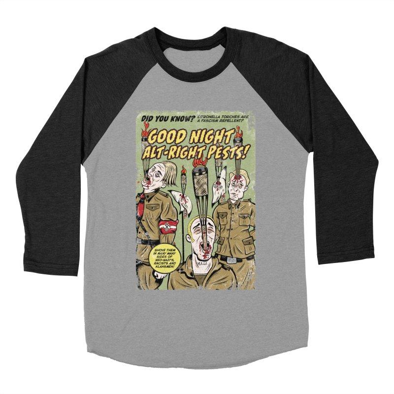 Citronella: Fascism Repellent Women's Baseball Triblend T-Shirt by Pat Higgins Illustration
