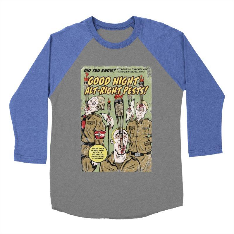 Citronella: Fascism Repellent Men's Baseball Triblend T-Shirt by Pat Higgins Illustration