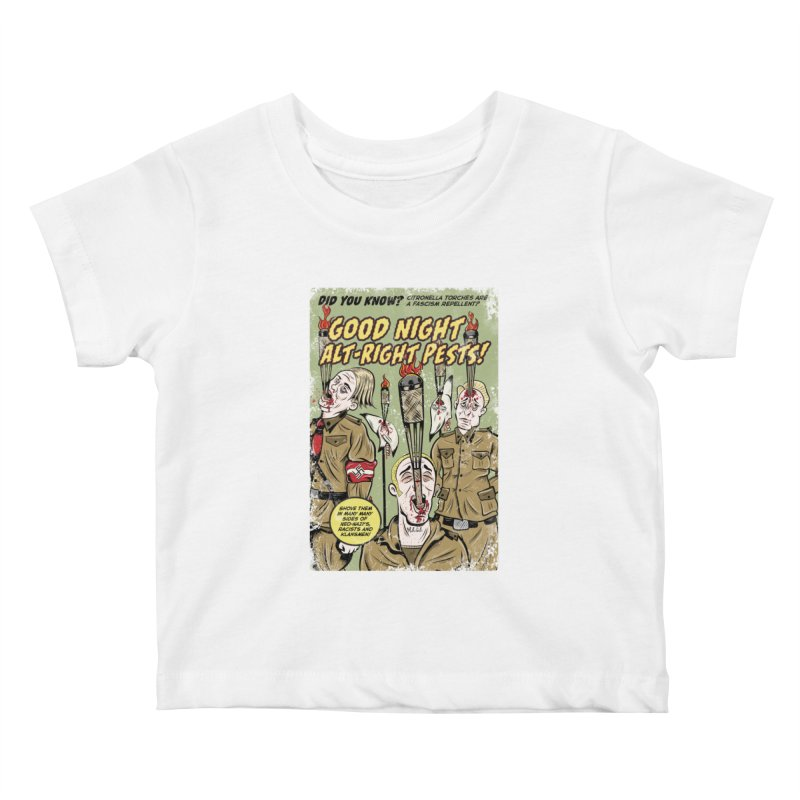 Citronella: Fascism Repellent Kids Baby T-Shirt by Pat Higgins Illustration