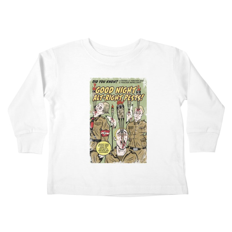 Citronella: Fascism Repellent Kids Toddler Longsleeve T-Shirt by Pat Higgins Illustration