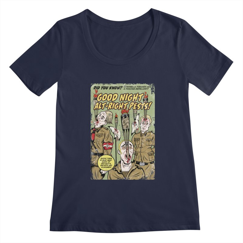 Citronella: Fascism Repellent Women's Scoopneck by Pat Higgins Illustration