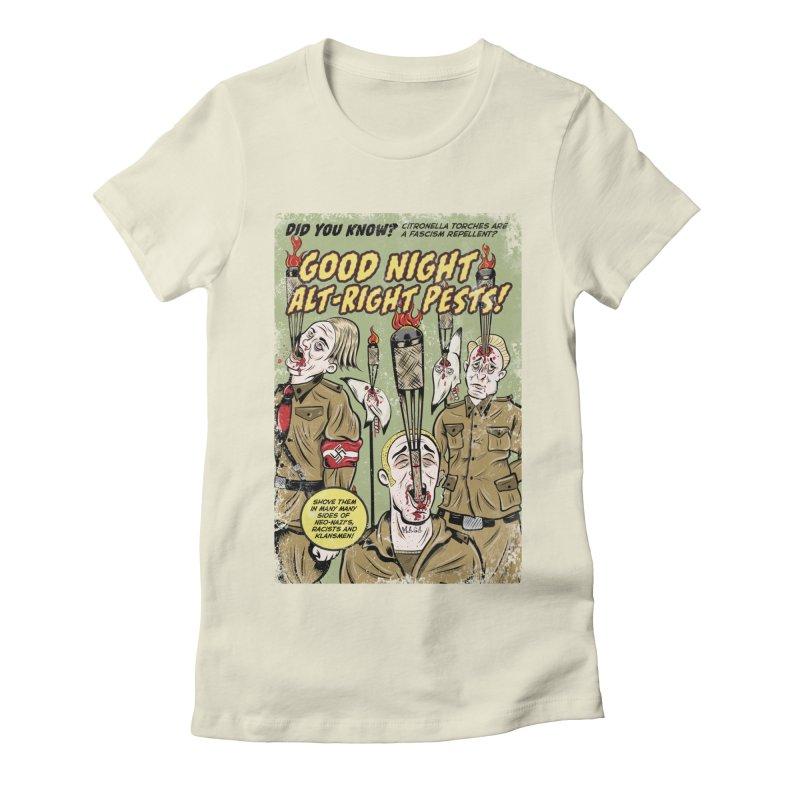 Citronella: Fascism Repellent Women's Fitted T-Shirt by Pat Higgins Illustration