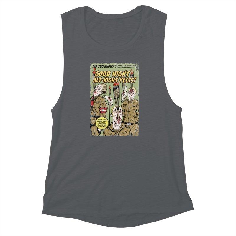 Citronella: Fascism Repellent Women's Muscle Tank by Pat Higgins Illustration