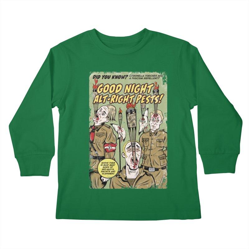 Citronella: Fascism Repellent Kids Longsleeve T-Shirt by Pat Higgins Illustration