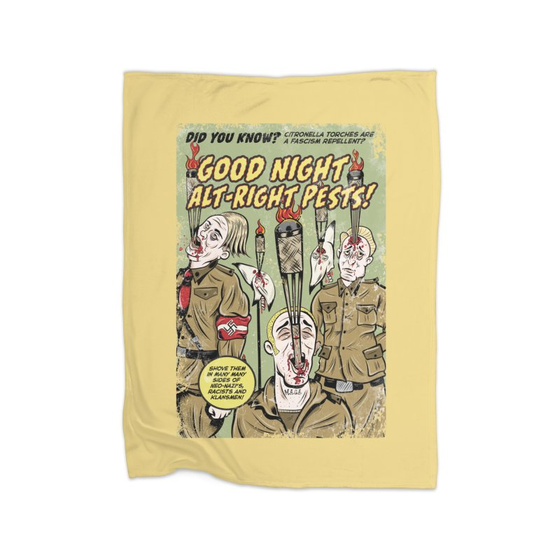 Citronella: Fascism Repellent Home Blanket by Pat Higgins Illustration