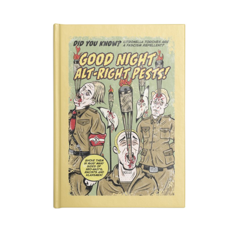 Citronella: Fascism Repellent Accessories Notebook by Pat Higgins Illustration