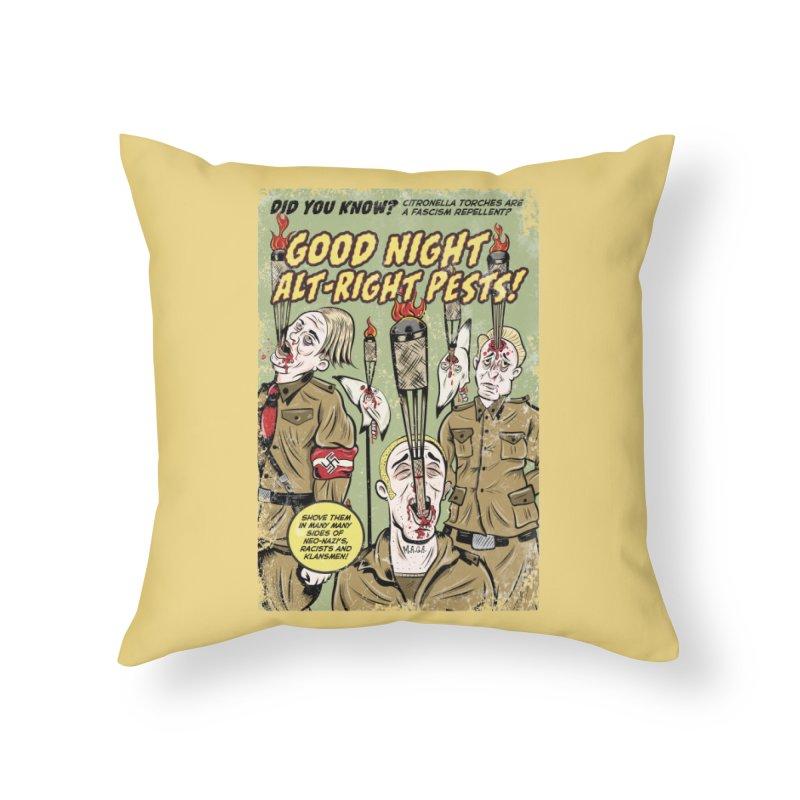 Citronella: Fascism Repellent Home Throw Pillow by Pat Higgins Illustration