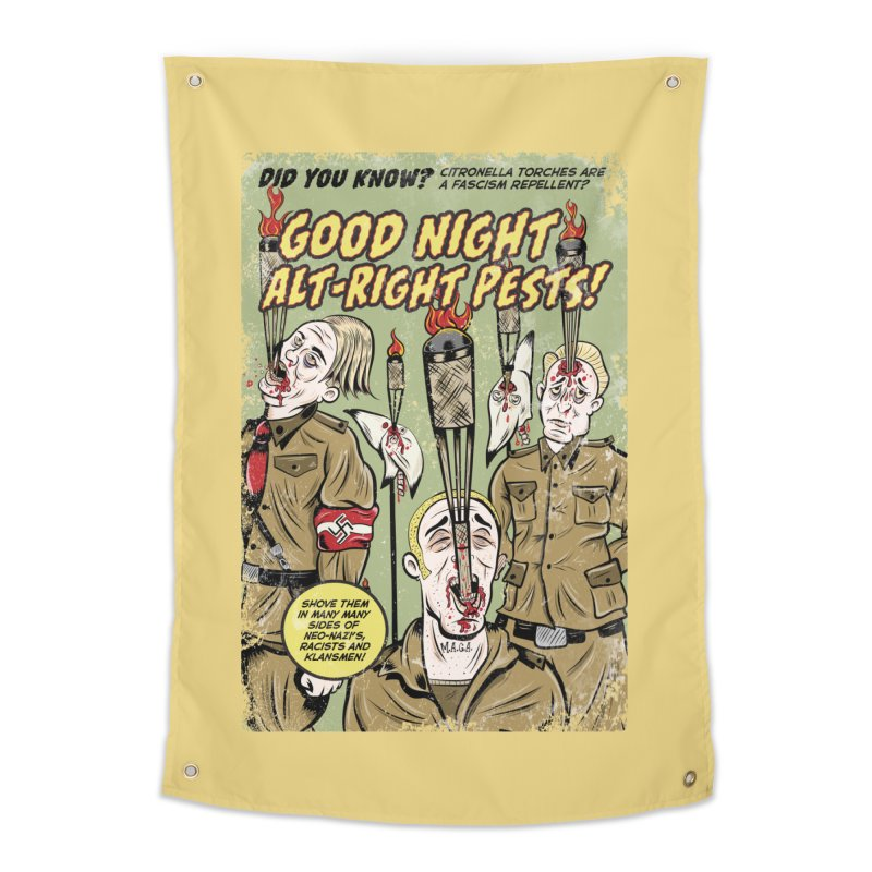 Citronella: Fascism Repellent Home Tapestry by Pat Higgins Illustration