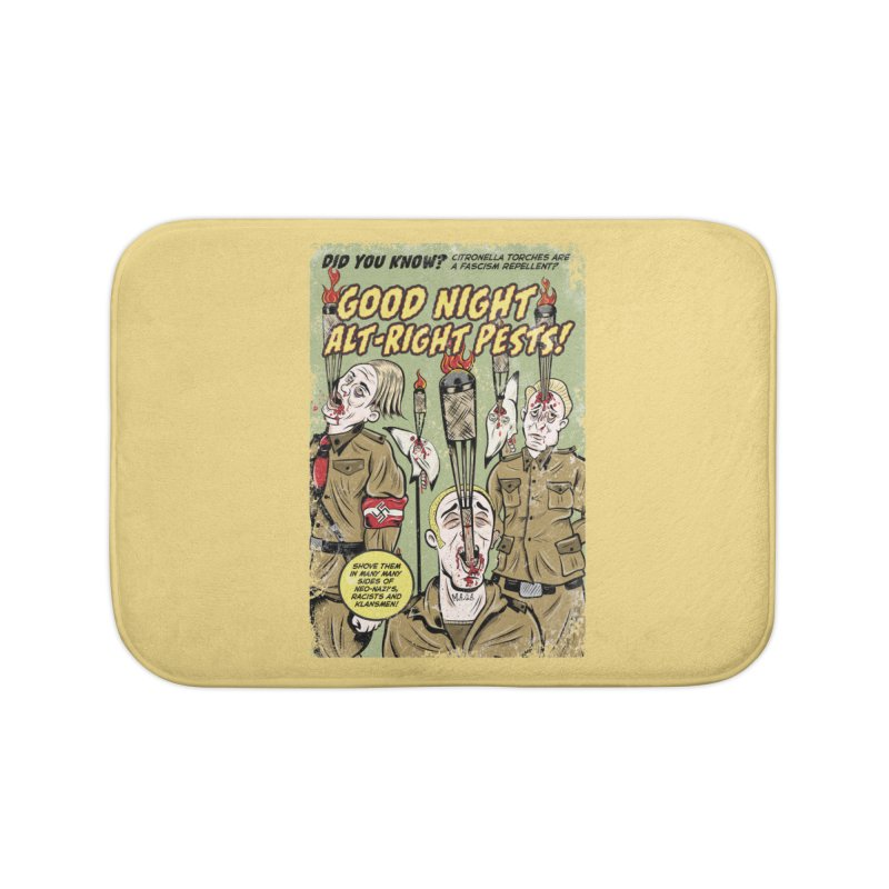 Citronella: Fascism Repellent Home Bath Mat by Pat Higgins Illustration