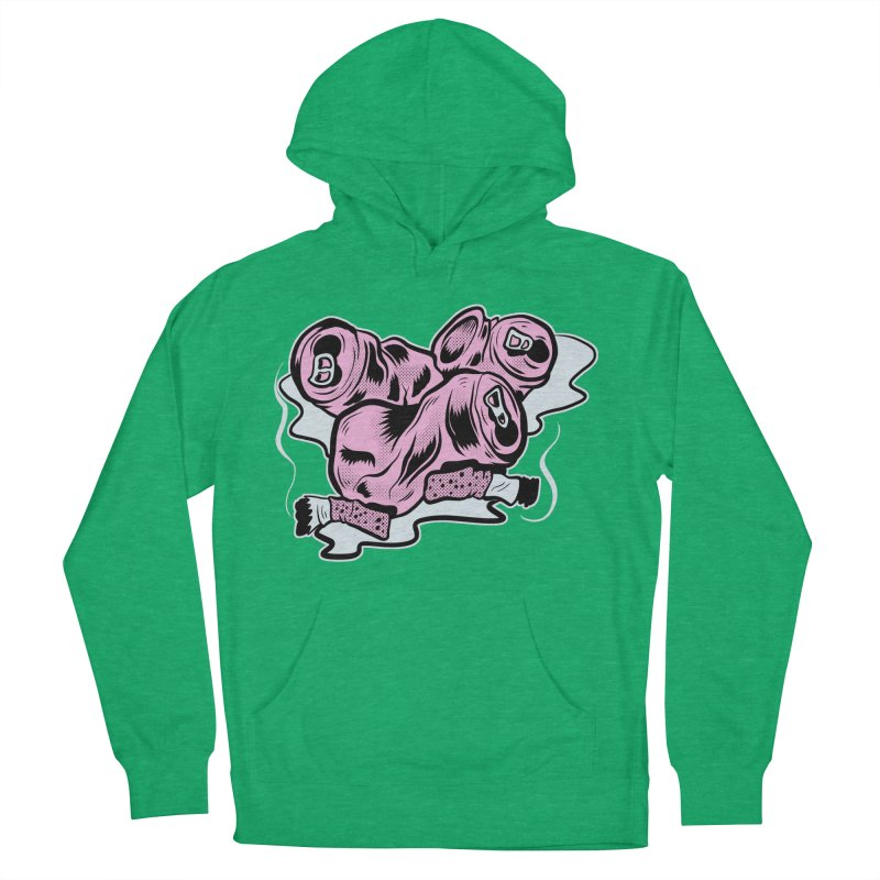 Roadside Trash: Cans and Butts Men's Pullover Hoody by Pat Higgins Illustration
