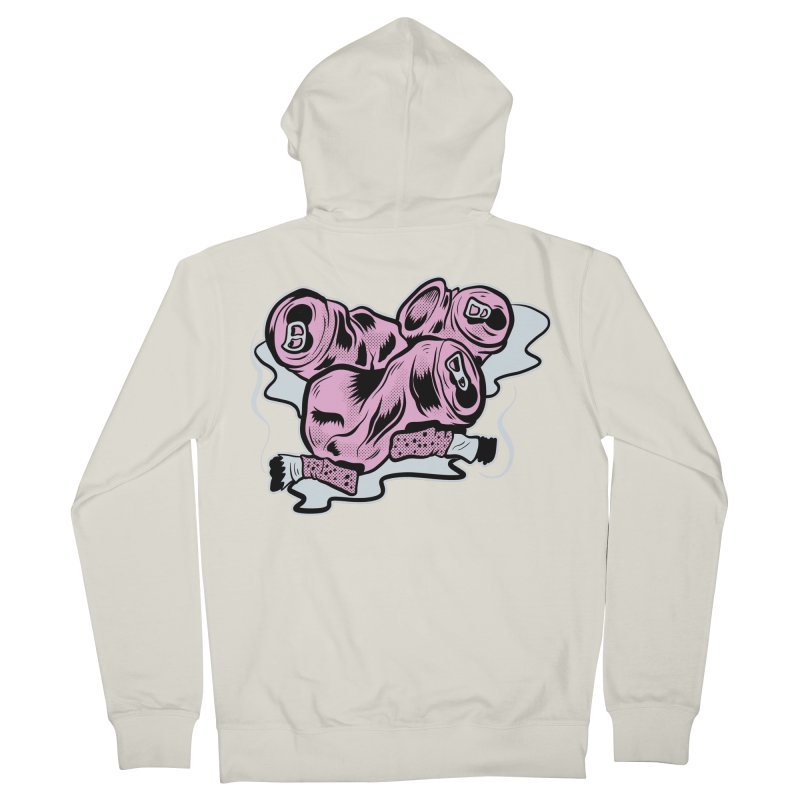 Roadside Trash: Cans and Butts Men's Zip-Up Hoody by Pat Higgins Illustration
