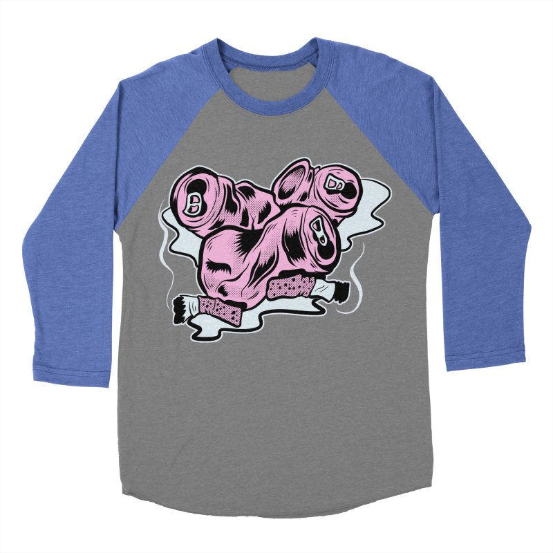 Roadside Trash: Cans and Butts Men's Baseball Triblend T-Shirt by Pat Higgins Illustration