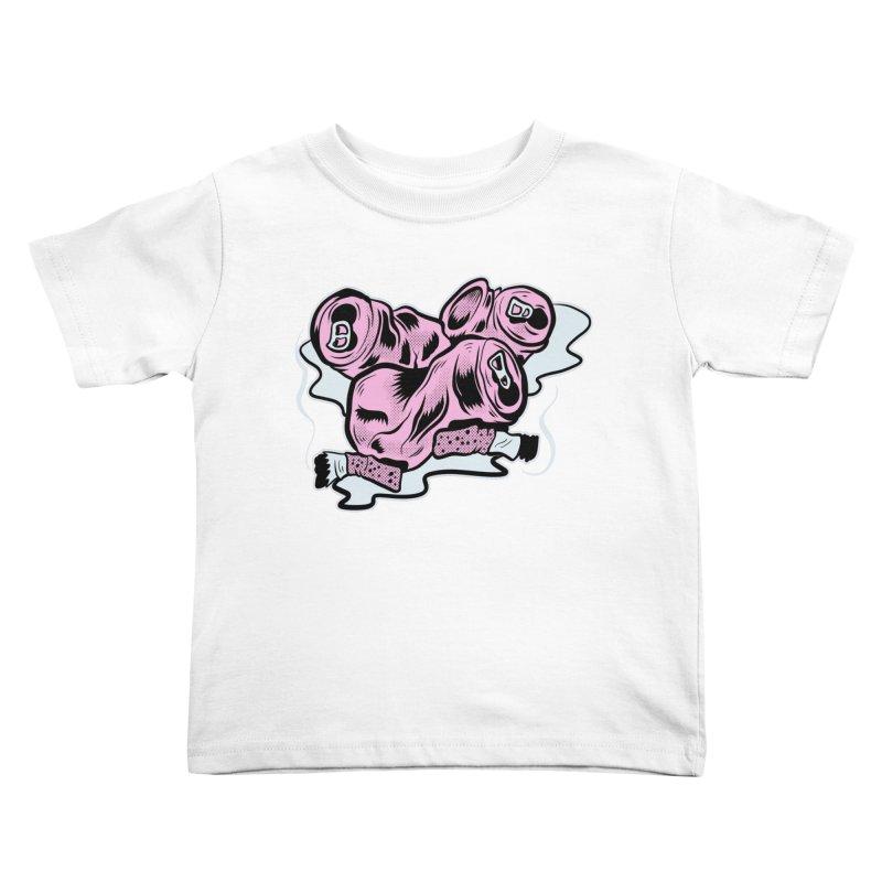 Roadside Trash: Cans and Butts Kids Toddler T-Shirt by Pat Higgins Illustration