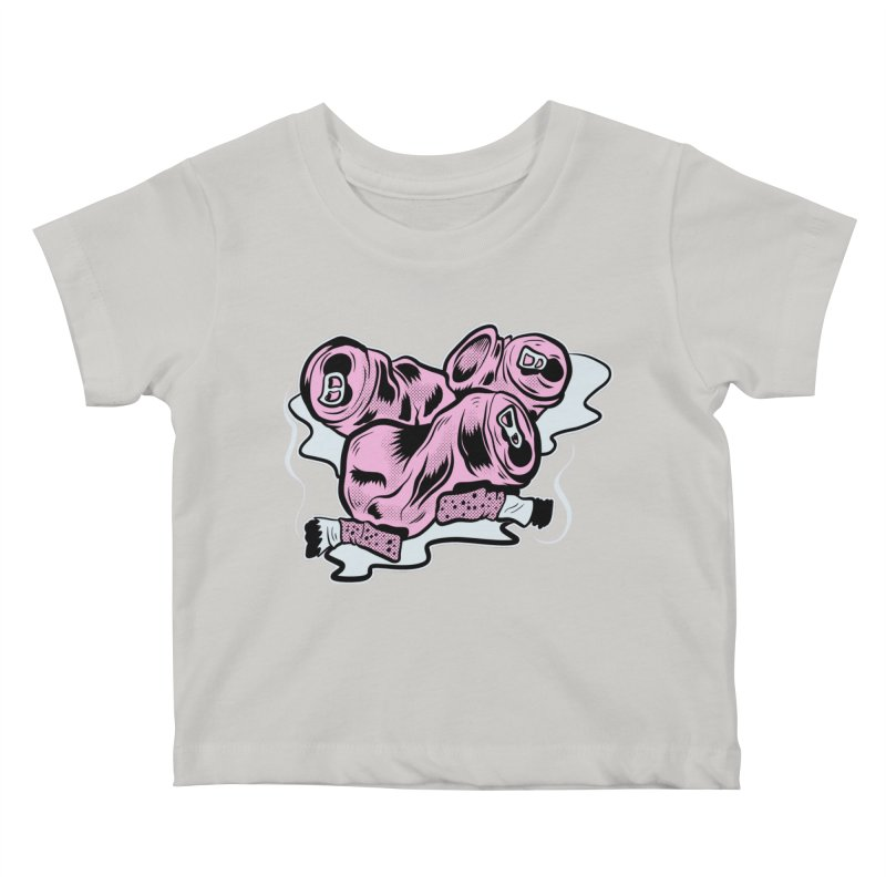 Roadside Trash: Cans and Butts Kids Baby T-Shirt by Pat Higgins Illustration