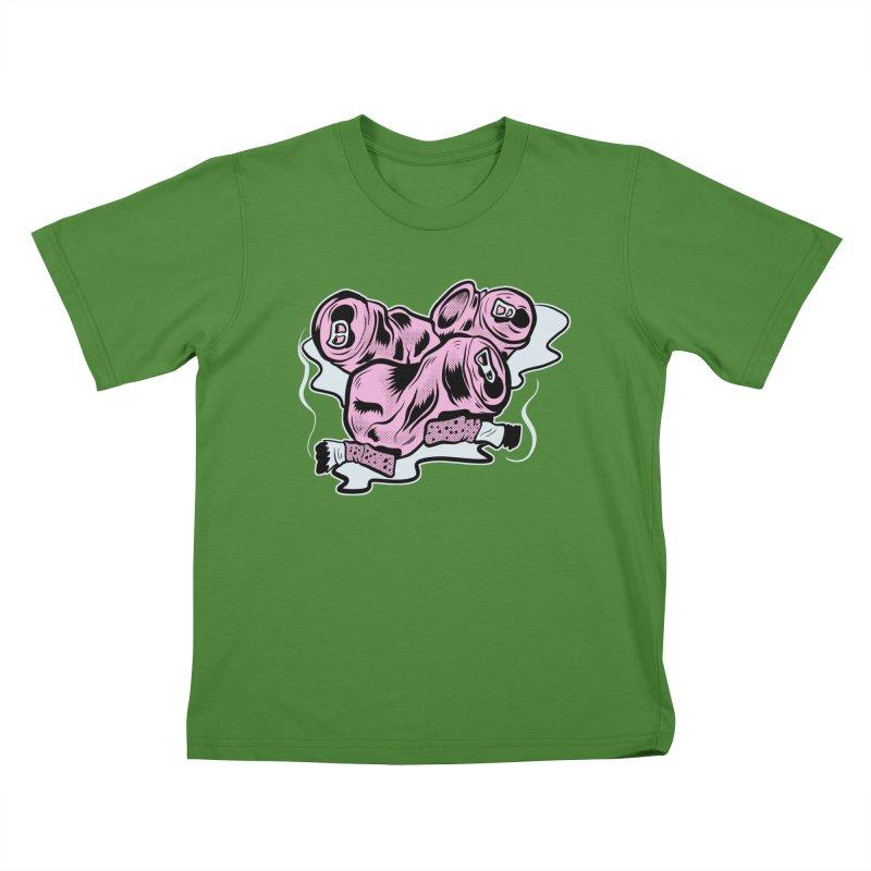 Roadside Trash: Cans and Butts Kids T-shirt by Pat Higgins Illustration