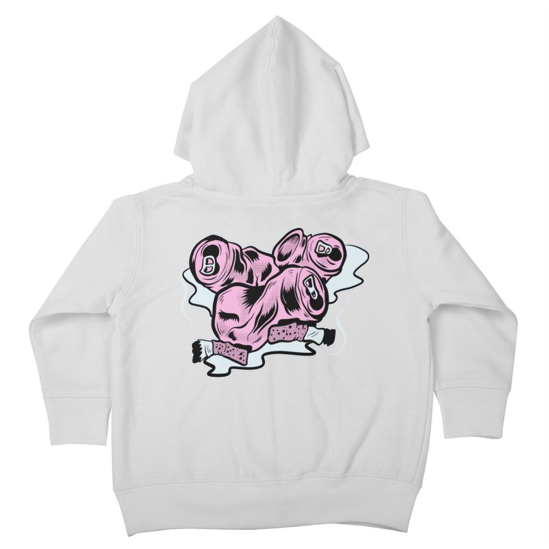 Roadside Trash: Cans and Butts Kids Toddler Zip-Up Hoody by Pat Higgins Illustration