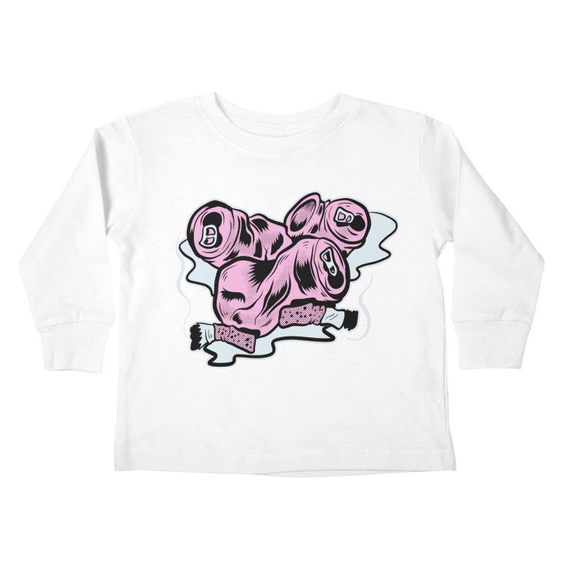 Roadside Trash: Cans and Butts Kids Toddler Longsleeve T-Shirt by Pat Higgins Illustration