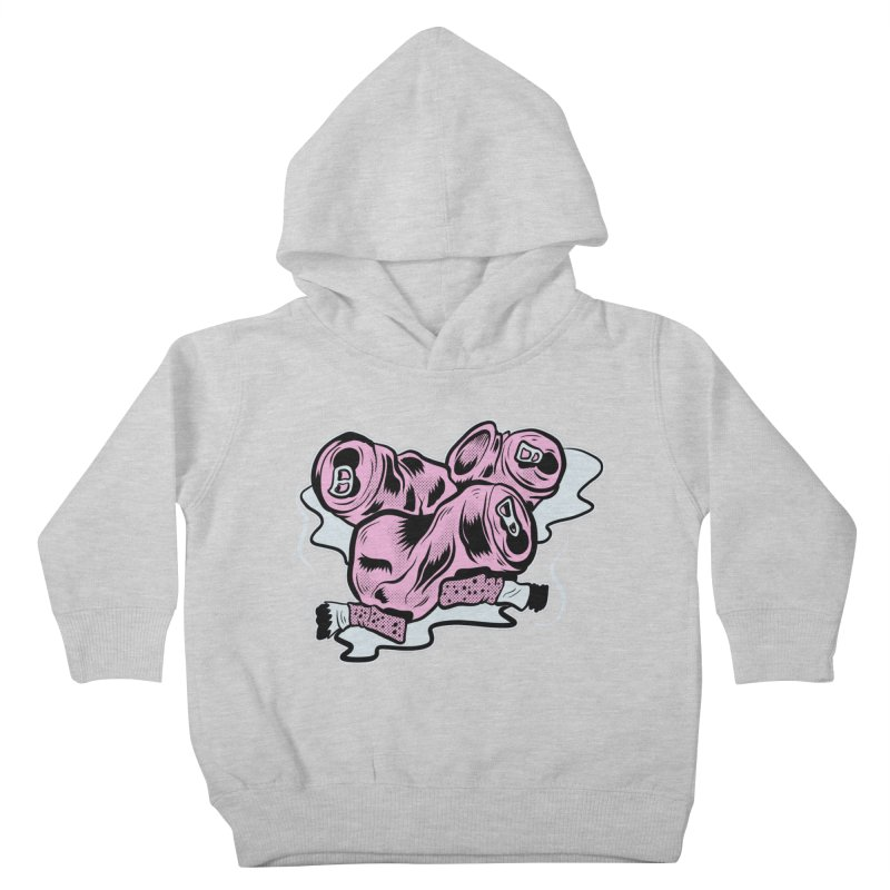 Roadside Trash: Cans and Butts Kids Toddler Pullover Hoody by Pat Higgins Illustration