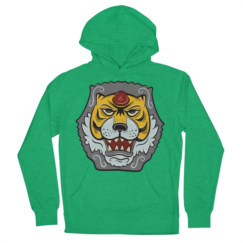 La Tigre Della Strada Women's Pullover Hoody by Pat Higgins Illustration